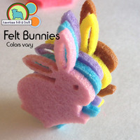 Felt Bunnies - Cutouts