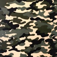 Camouflage printed felt