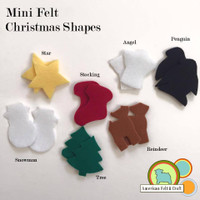 Mini Felt Shapes- Christmas