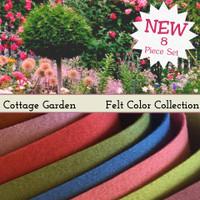 Cottage Garden - 8 piece felt color collection
