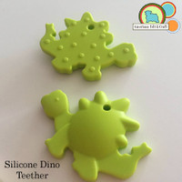 Silicone Dinosaur Teether - 4 colors