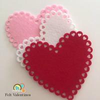 Felt Valentine's Day Hearts
