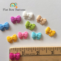 Flat Bow Buttons