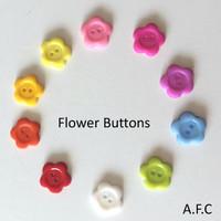 Flower Buttons- 10