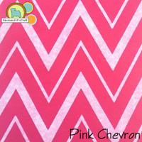 Pink Chevron - Acrylic Print Felt
