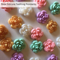 Silicone Rose Teether Pendant