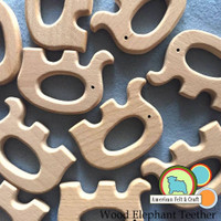 Wood Elephant Teether