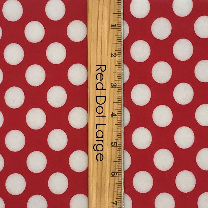 Felt Red Polka Dots Printed 3 Sheets cm 30x40