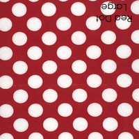 Red polka dot felt