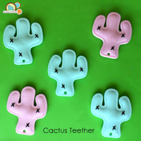 Cactus Teething Pendant -silicone