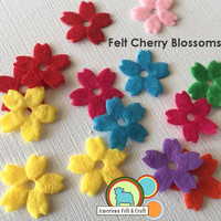 Felt Cherry Blossoms - 8 count