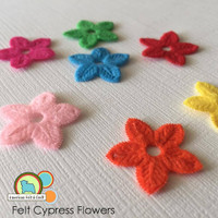 Felt Cypress Blossoms - 10 count flowers
