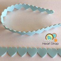 Heart Teething Strap -silicone