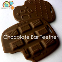 Chocolate Bar Teething Pendant -silicone