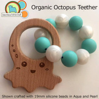 Octopus Wood Teether Organic
