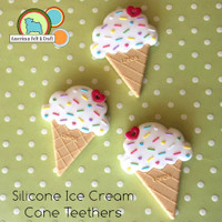 Silicone Ice Cream Cone Teether