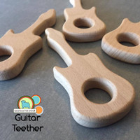 Wood Guitar Teether