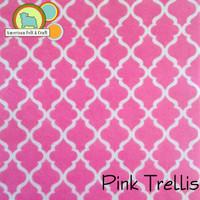 Pink Trellis- Acrylic Print Felt