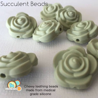 Succulent Shaped Silicone Teething Beads