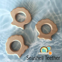 Seashell Teething shape - Organic Wood