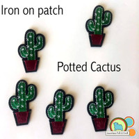 Potted Cactus - Iron On