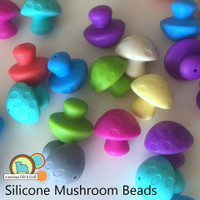 Mushroom Shaped Silicone Teething Beads