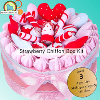 Strawberry Chiffon Felt Cake Box Kit- Imported