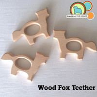 Teething Fox Wood
