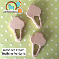Ice Cream Woood Teething Pendant