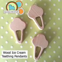 Ice Cream Woood Teething Pendant