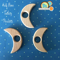 Half Moon Wood Teething Pendant