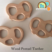 Pretzel Wood Teething Pendant