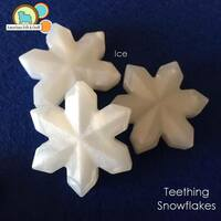 Snowflake teething beads