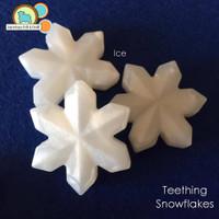 Snowflake teething beads
