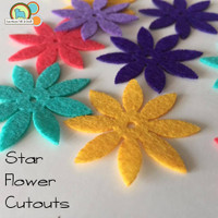 Felt Star Flower Cutouts