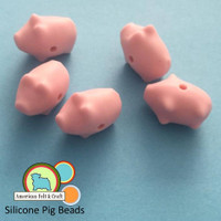 Pig Shaped Silicone Teething Beads
