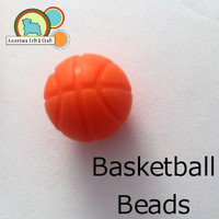 Basketball Silicone Teething Beads
