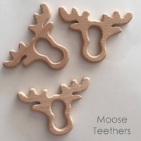 Wooden Moose Teether