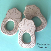 Wood Pineapple Teether