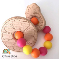Wooden Citrus Teether