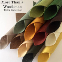 More than a woodsman - 12 piece felt color collection