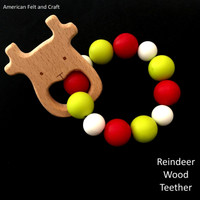 Reindeer birchwood teether