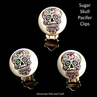 Sugar Skull Teether Clip