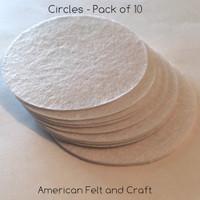 White Felt Circles