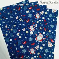 Sassy Santa- Christmas Felt Print