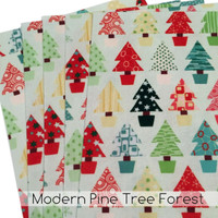 Modern Pine Tree Forest - printed felt sheets
