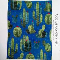 Cactus Garden- printed felt