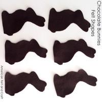 Chocolate Bunny- felt cut out shapes