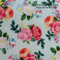Summer Roses- printed felt