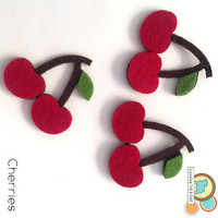 Cherry fruit felt shapes